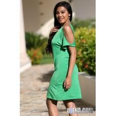 Around Town Green Dress